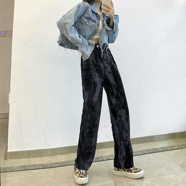 Vintage Long Tie-Dye Print Casual Pants - My Sweet Outfit - eGirl Outfits - Soft Girl Clothes Aesthetic - Grunge Korean Artsy - Cosplay - Anime - Fashion itGirl - Rap Accessories 1