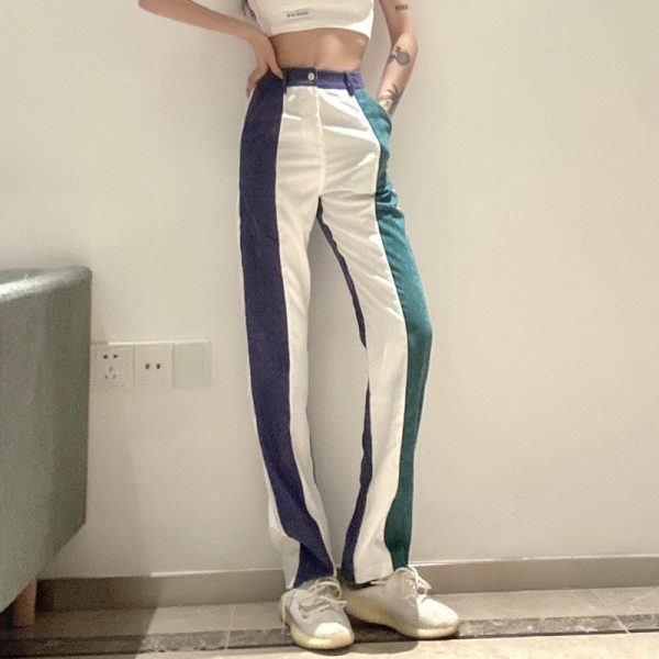 Corduroy Multicolor Y2k Pants - My Sweet Outfit - eGirl Outfits - Soft Girl Clothes Aesthetic - Grunge Korean Artsy - Cosplay - Anime - Fashion itGirl - Rap Accessories 1