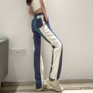 Corduroy Multicolor Y2k Pants - My Sweet Outfit - eGirl Outfits - Soft Girl Clothes Aesthetic - Grunge Korean Artsy - Cosplay - Anime - Fashion itGirl - Rap Accessories (2)