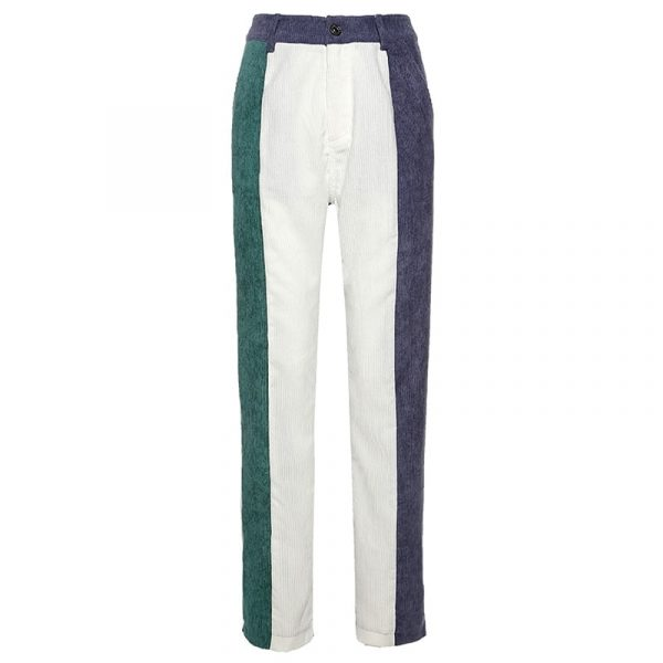 Corduroy Multicolor Y2k Pants - My Sweet Outfit - eGirl Outfits - Soft Girl Clothes Aesthetic - Grunge Korean Artsy - Cosplay - Anime - Fashion itGirl - Rap Accessories 3
