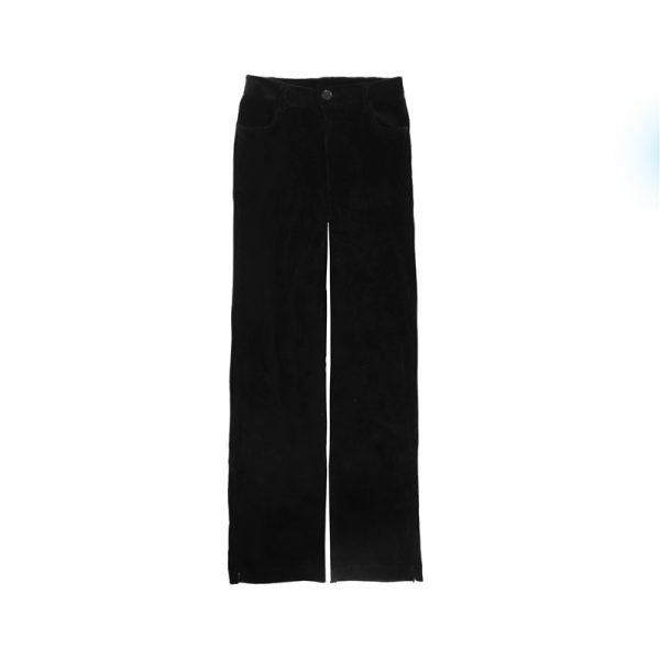 Corduroy Y2k Ankle-Fastened Pants - My Sweet Outfit - eGirl - SoftGirl Clothes Aesthetic - Goth - Grunge - Vintage Black - Anime - Fashion - itGirl (2)