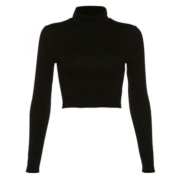 Cross Straps Long Sleeve Top - My Sweet Outfit - eGirl - SoftGirl Clothes Aesthetic - Goth - Grunge - Vintage Black - Y2k - Fashion - itGirl (3)