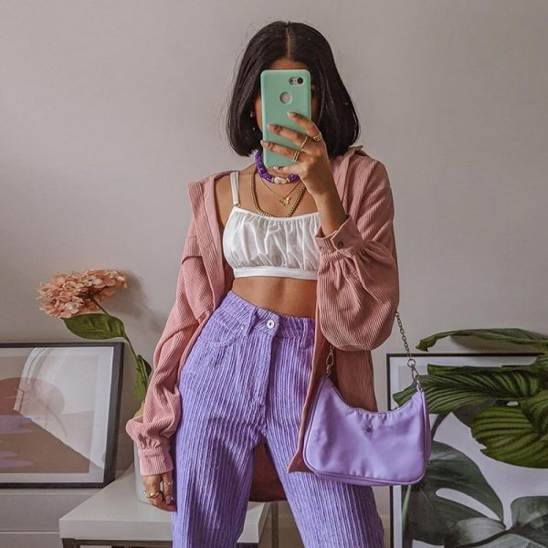 eGirl Corduroy Casual Trousers - My Sweet Outfit - eGirl - SoftGirl Clothes Aesthetic - Goth - Grunge - Vintage Black - Y2k - Fashion - itGirl (3)
