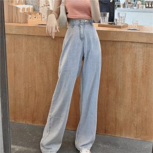 Long Leg Ring Strap Culottes Jeans - My Sweet Outfit - eGirl - SoftGirl Clothes Aesthetic - Goth - Grunge - Vintage Black - Y2k - Harajuku style - Softie 4