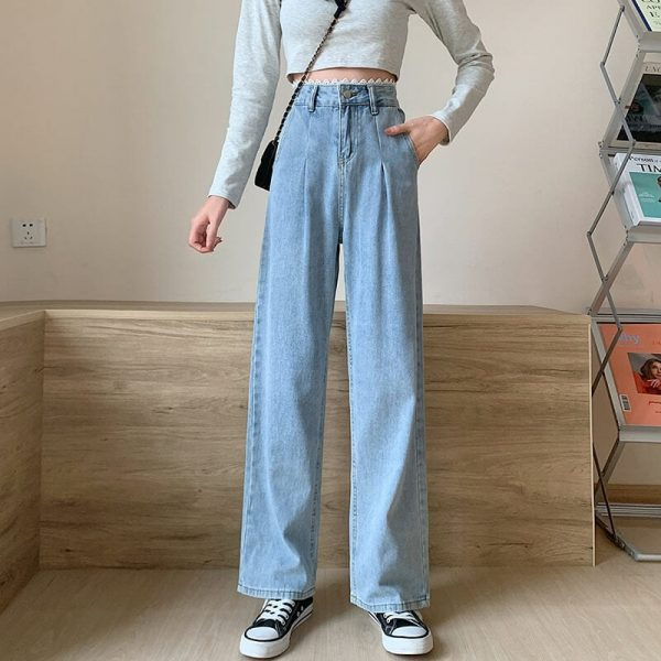 Arrows And Ruffles Wide Washed Jeans - My Sweet Outfit - eGirl - SoftGirl Clothes Aesthetic - Goth - Grunge - Vintage Black - Y2k - Harajuku style - Softie 2