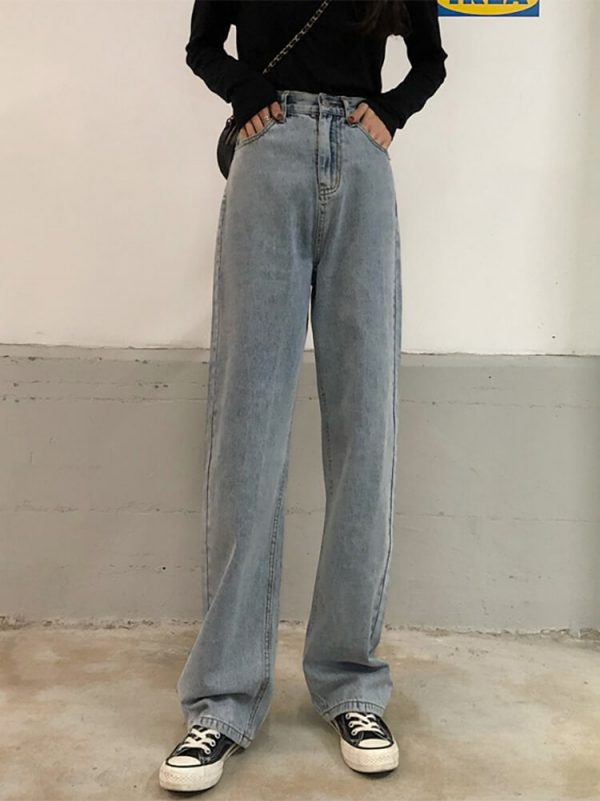 Loin Ties Wide Long Leg Jeans - My Sweet Outfit - eGirl - SoftGirl Clothes Aesthetic - Goth - Grunge - Vintage Black - Y2k - Harajuku style - Softie 2