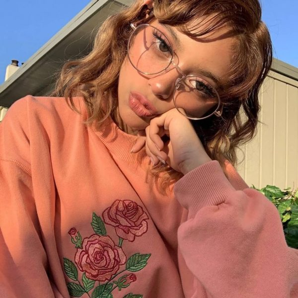 Too Cute to Care Rose Embroidery Sweatshirt 2 - My Sweet Outfit - eGirl - SoftGirl Clothes Aesthetic - Goth - Grunge - Vintage Black - Y2k - Harajuku style - Softie