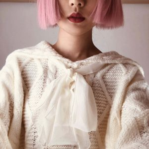 Cottagecore Aesthetics Bow Knitted Fairy Sweater 1 - My Sweet Outfit - eGirl - SoftGirl Clothes Aesthetic - Goth - Grunge - Vintage - Indie Clothing - Cottagecore - Y2k - Harajuku style - Softie