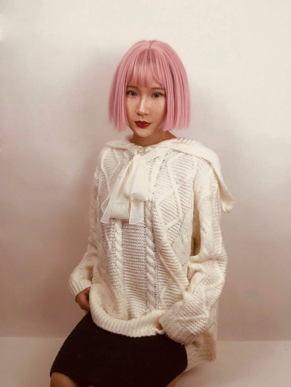 Cottagecore Aesthetics Bow Knitted Fairy Sweater 2 - My Sweet Outfit - eGirl - SoftGirl Clothes Aesthetic - Goth - Grunge - Vintage - Indie Clothing - Cottagecore - Y2k - Harajuku style - Softie