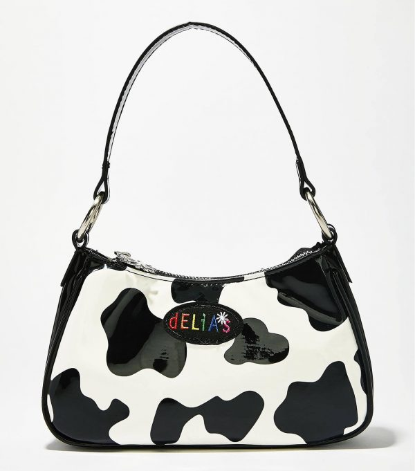 Delias Cow Pattern Shoulder Bag 3 - My Sweet Outfit - eGirl - SoftGirl Clothes Aesthetic - Goth - Grunge - Vintage - Indie Clothing -Cottagecore -Y2k - Harajuku style - Softie