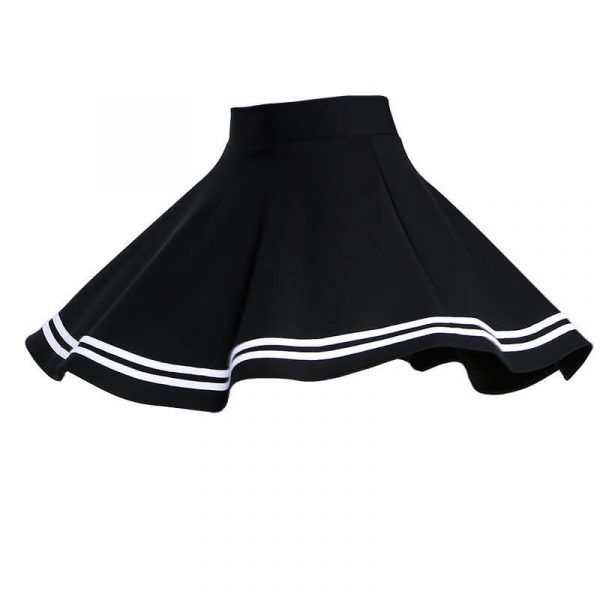 Grunge Aesthetic Pleated Skirt With Stripes 2 - My Sweet Outfit - eGirl - SoftGirl Clothes Aesthetic - Goth - Grunge - Vintage - Indie Clothing -Cottagecore -Y2k - Harajuku style - Softie