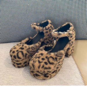 Plush Big Sole Leopard Print Shoes 3 - My Sweet Outfit - eGirl - SoftGirl Clothes Aesthetic - Goth - Grunge - Vintage - Indie Clothing -Cottagecore -Y2k - Harajuku style - Softie