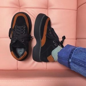 Thick-soled Retro Aesthetic Shoes 1 - My Sweet Outfit - eGirl - SoftGirl Clothes Aesthetic - Goth - Grunge - Vintage - Indie Clothing - Cottagecore - Y2k - Harajuku style - Softie