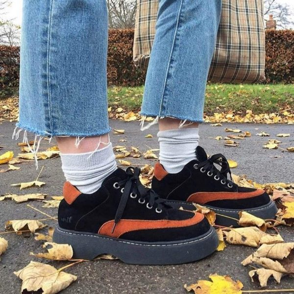 Thick-soled Retro Aesthetic Shoes 2 - My Sweet Outfit - eGirl - SoftGirl Clothes Aesthetic - Goth - Grunge - Vintage - Indie Clothing - Cottagecore - Y2k - Harajuku style - Softie