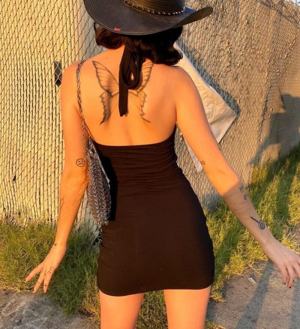 Cross Laced Tight Sexy Dress 4 - My Sweet Outfit - eGirl - SoftGirl Clothes Aesthetic - Goth - Grunge - Vintage - Indie Clothing - Cottagecore - Y2k - Harajuku style - Softie