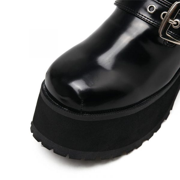 High Sole Сlasp Ankle Boots 2 - My Sweet Outfit - eGirl - SoftGirl Clothes Aesthetic - Goth - Grunge - Vintage - Indie Clothing - Cottagecore - Y2k - Harajuku style - Softie